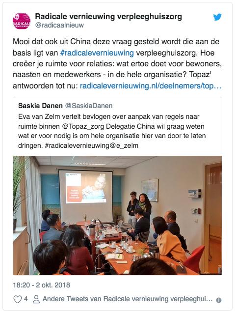 Tweets Chineze interesse om hele organisatie te vernieuwen